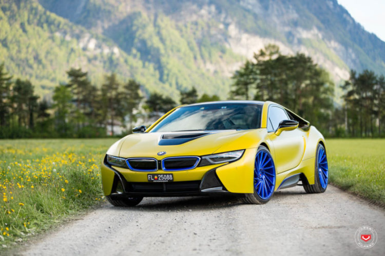 Matte Yellow Bmw I8 With Blue Wheels Bmwsg Bmw Singapore Owners